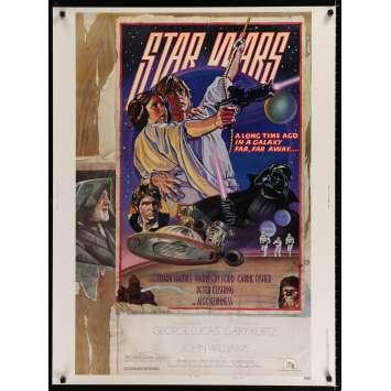 STAR WARS - UN NOUVEL ESPOIR Affiche de film Style D 76x101 - 1977 - Harrison Ford, George Lucas