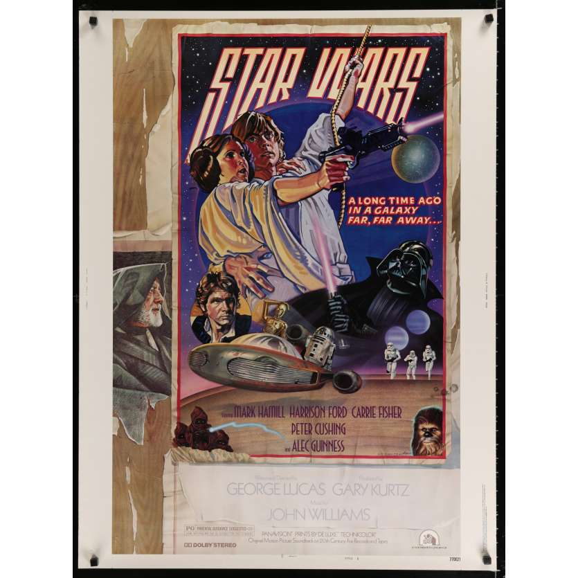 STAR WARS - A NEW HOPE US Movie Poster Style D 30x40 - 1977 - George Lucas, Harrison Ford
