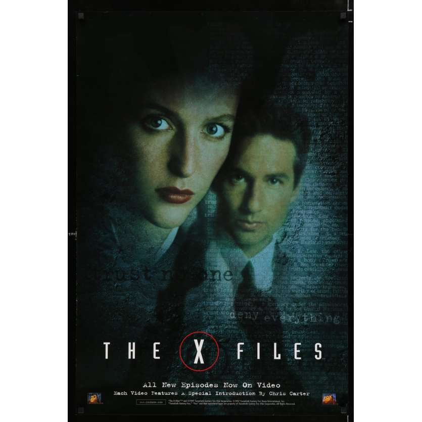 X-FILES US Movie Poster 29x40 - 1997 - Rob Bowman, David Duchowny