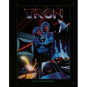 TRON Affiche de film 43x55 - 1982 - Jeff Bridges, Steven Lisberger