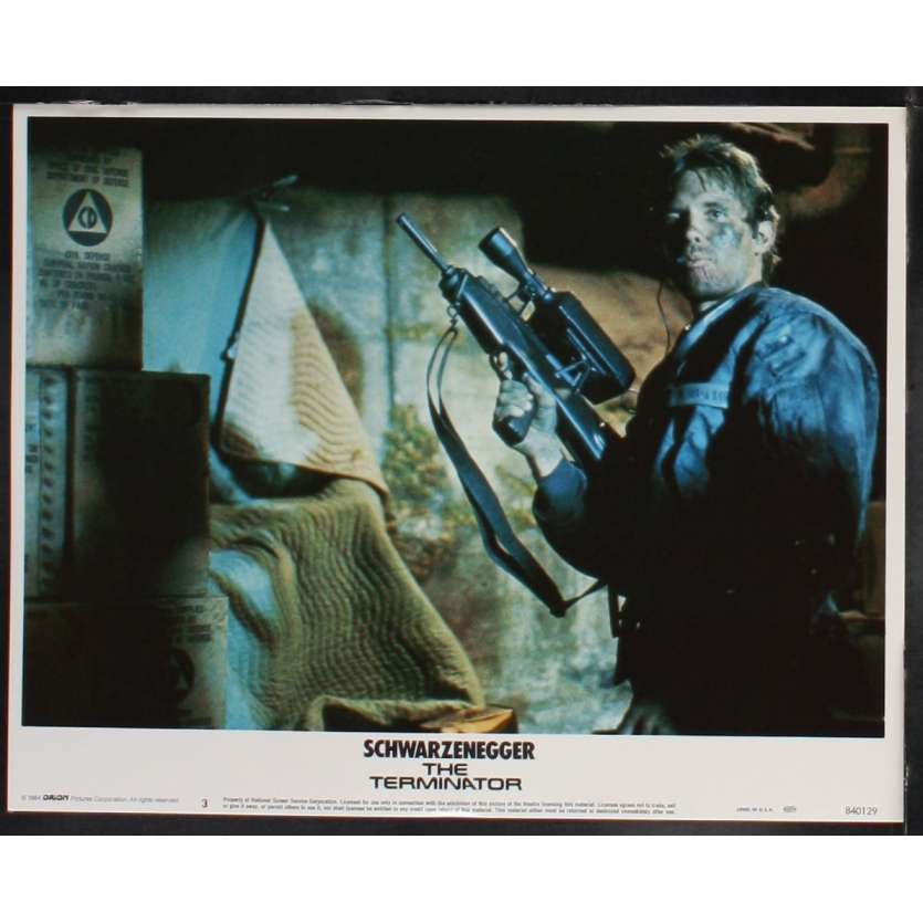 THE TERMINATOR US Lobby Card 7 11x14 - 1984 - James Cameron, Arnold Schwarzenegger