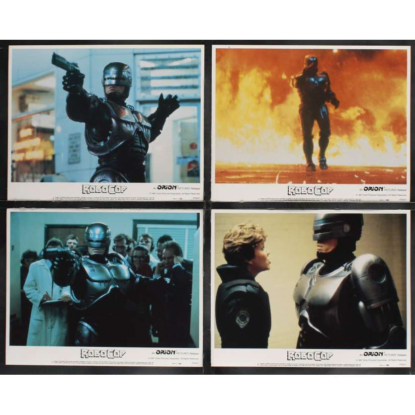 ROBOCOP Photos de film x8 28x36 - 1987 - Peter Weller, Paul Verhoeven