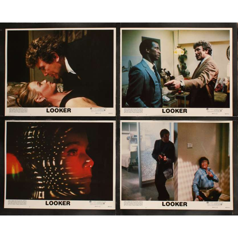 LOOKER US Lobby Cards x8 11x14 - 1981 - Michael Crichton, Albert Finney