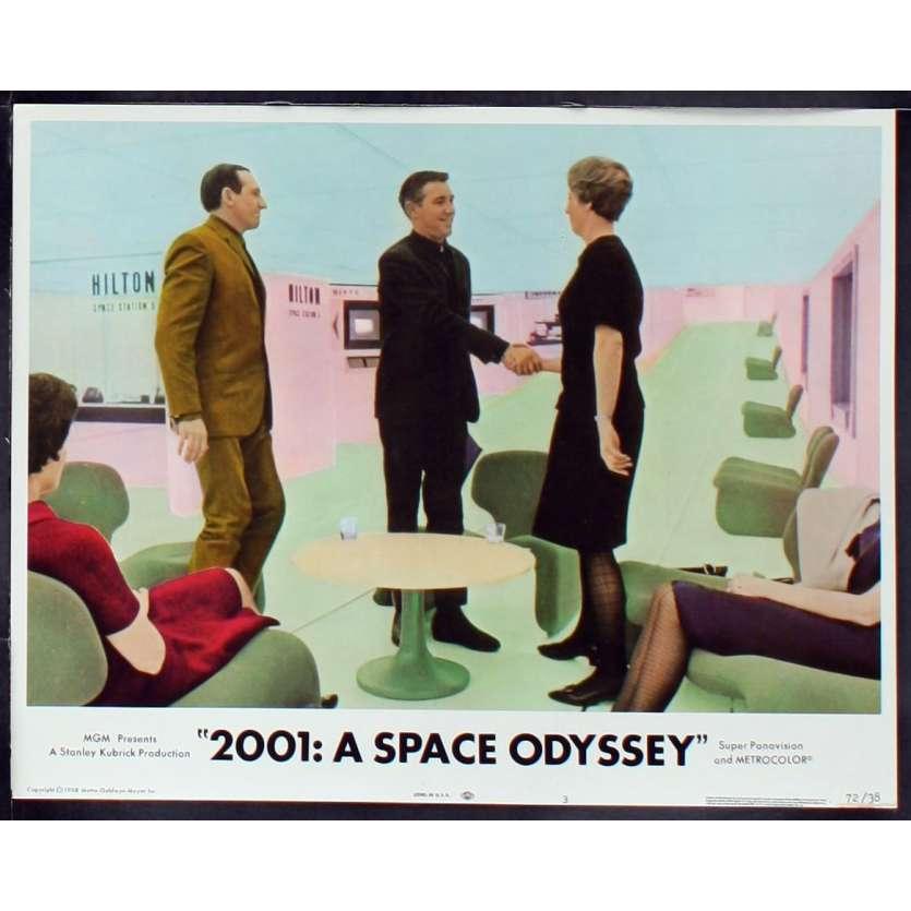 2001: A SPACE ODYSSEY US Lobby Card 4 11x14 - R1972 - Stanley Kubrick, Keir Dullea