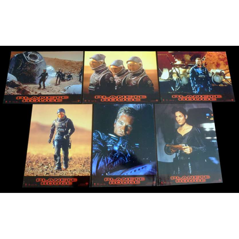 RED PLANET French Lobby Cards x6 9x12 - 2000 - Antony Hoffman, Val Kilmer