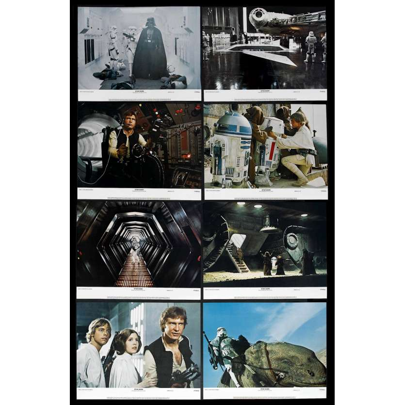 STAR WARS - A NEW HOPE US Lobby Cards x8 11x14 - 1977 - George Lucas, Harrison Ford