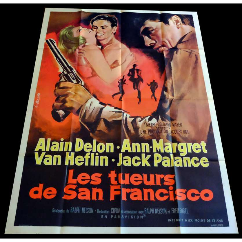 ONCE A THIEF French Movie Poster 47x63 - 1965 - Ralph Nelson, Alain Delon