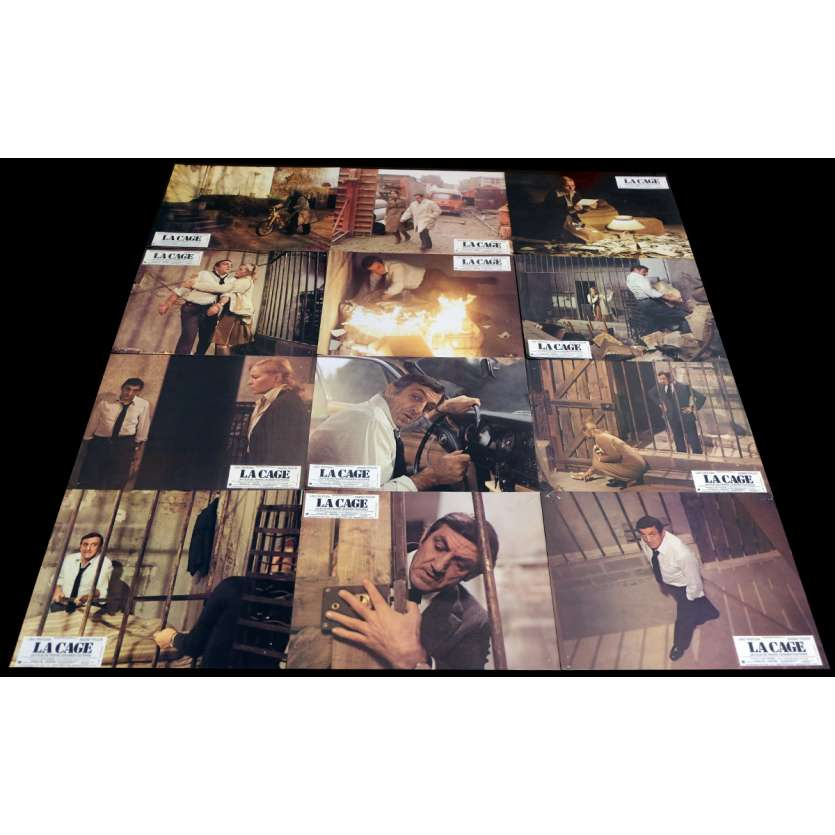 THE CAGE French Lobby cards x12 9x12 - 1975 - Pierre Granier Deferre, Lino Ventura