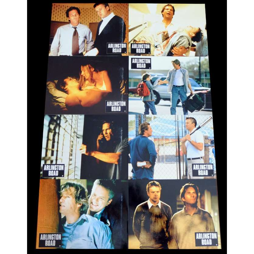 ARLINGTON ROAD French Lobby cards x8 9x12 - 1999 - Mark Pellington, Jeff Bridges