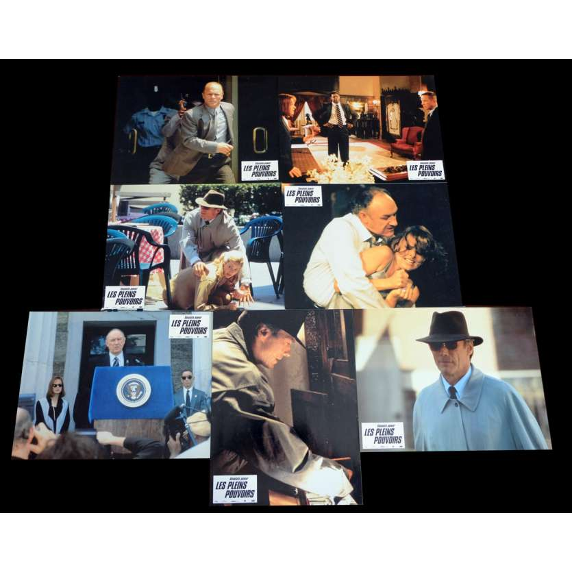 ABSOLUTE POWER French Lobby cards x7 9x12 - 1997 - Clint Eastwood, Gene Hackman