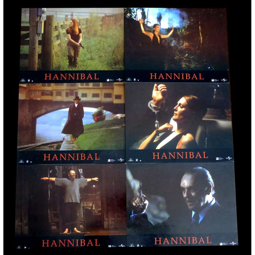 HANNIBAL French Lobby cards x6 9x12 - 2001 - Ridley Scott, Anthony Hopkins