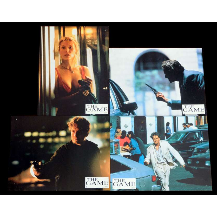 THE GAME French Lobby cards x4 9x12 - 1997 - David Fincher, Michael Douglas