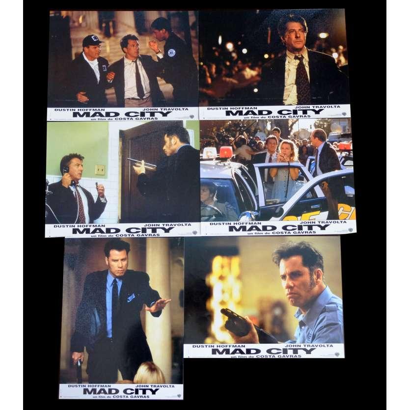 MAD CITY French Lobby cards x6 9x12 - 1997 - Costa Gavras, Dustin Hoffman