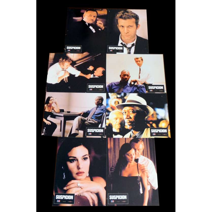 UNDER SUSPICION French Lobby cards x8 9x12 - 2000 - Stephen Hopkins, Gene Hackman