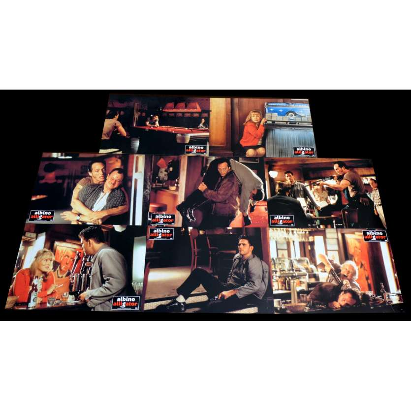 ALBINO ALLIGATOR French Lobby cards x8 9x12 - 1996 - Kevin Spacey, Matt Dillon