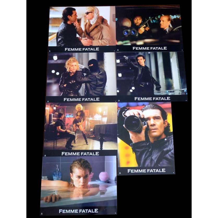 FEMME FATALE French Lobby cards x7 9x12 - 2002 - Brian de Palma, Antonio Banderas