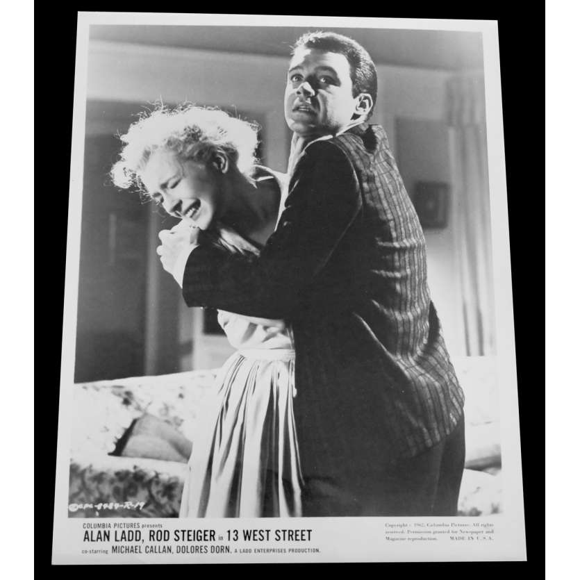 13 WEST STREET US Press Still 8x10 - 1962 - Philip Leacock, Alan Ladd