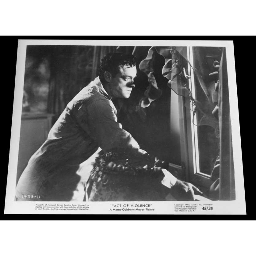 ACT OF VIOLENCE US Press Still 2 8x10 - 1949 - Fred Zinnemann, Van Heflin