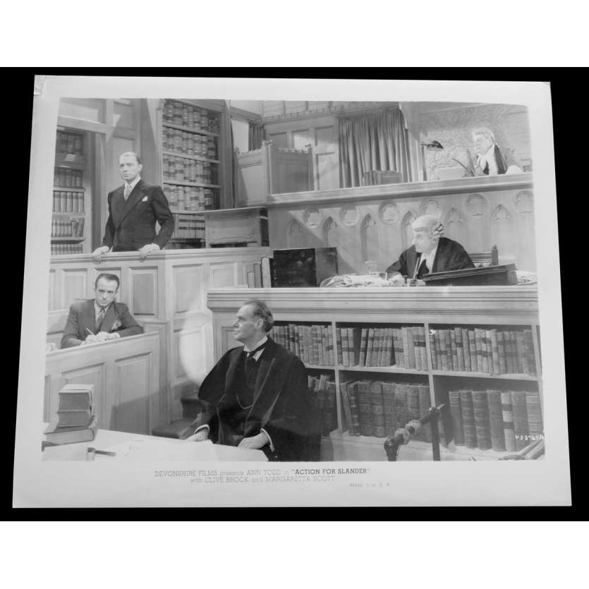 ACTION FOR SLANDER US Press Still 8x10 - 1937/R?? - Tim Whelan, Ann Todd