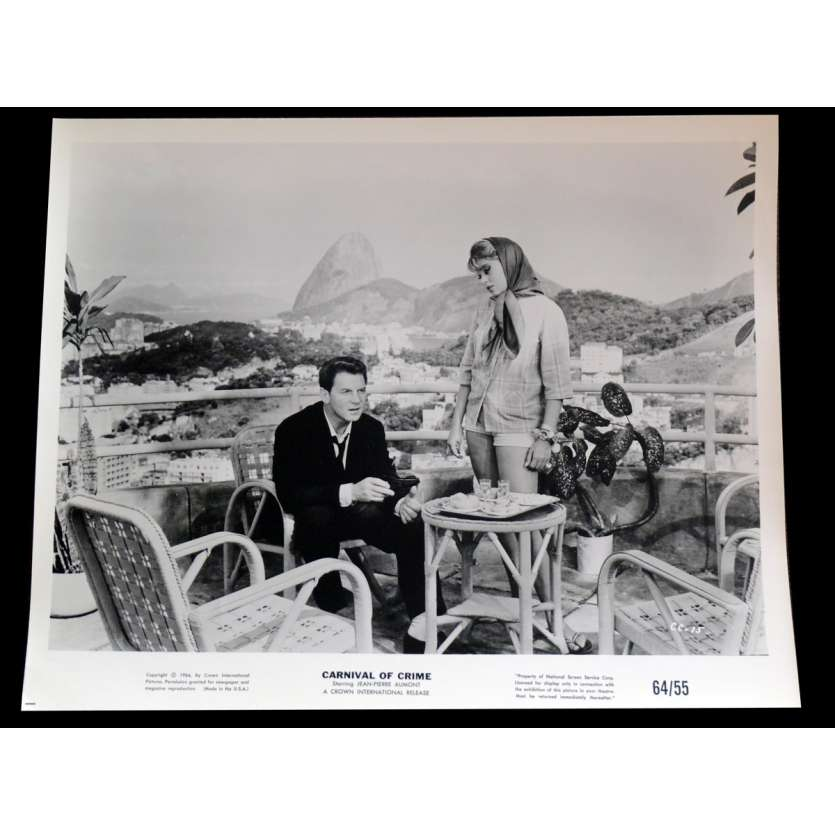 CARNIVAL OF CRIME US Press Still 3 8x10 - 1964 - George Cahan, Jean-Pierre Aumont