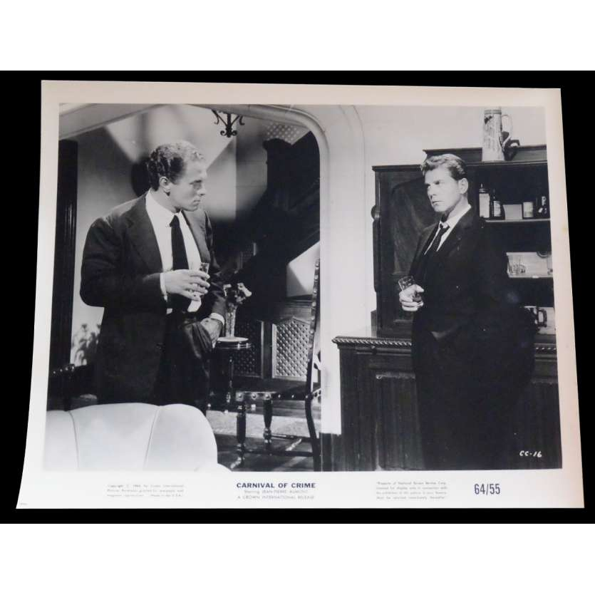 CARNIVAL OF CRIME US Press Still 2 8x10 - 1964 - George Cahan, Jean-Pierre Aumont