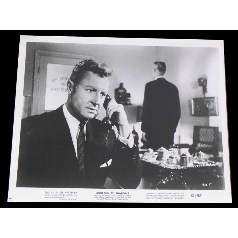 INVISIBLE AVENGER / BOURBON ST SHADOWS US Press Still 8x10 - 1962 - James Wong Howe, Richard Derr