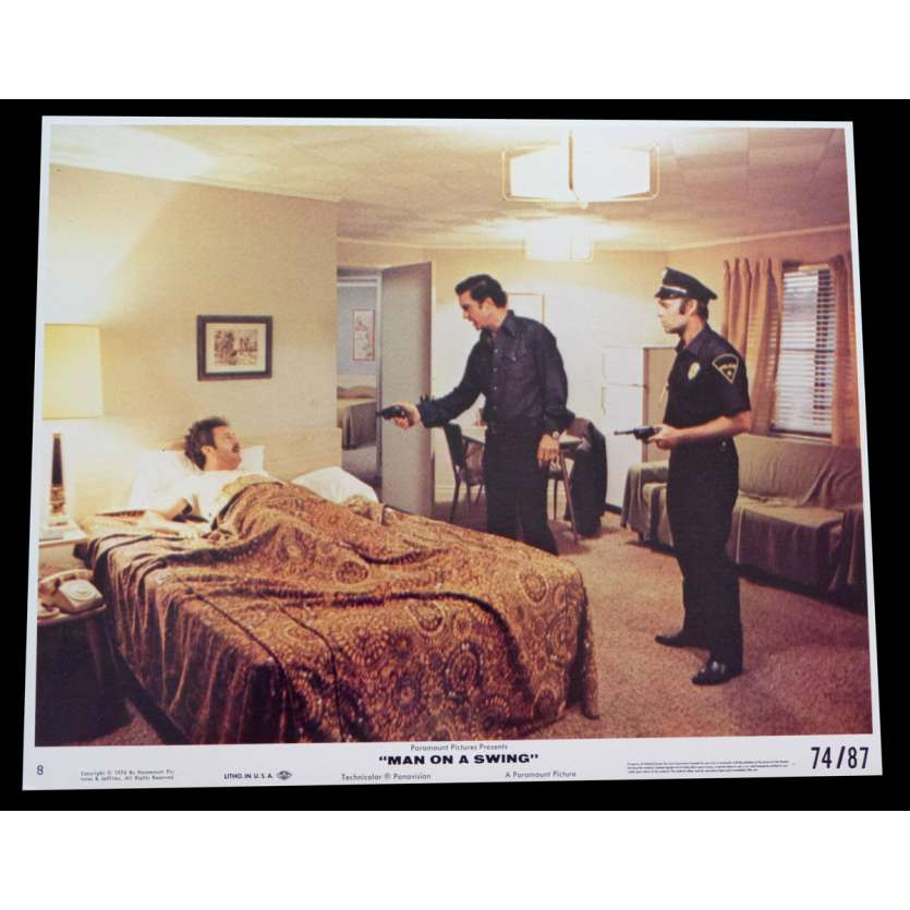 MAN ON A SWING US Lobby Card 8x10 - 1974 - Frank Perry, Cliff Robertson