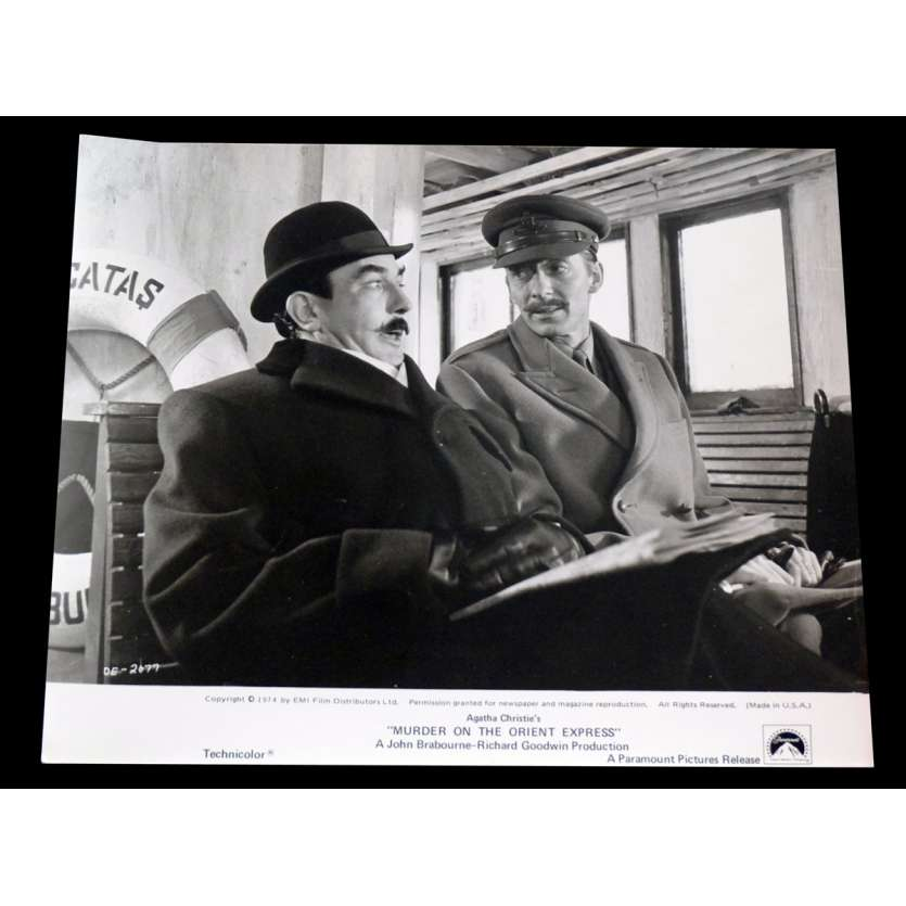 LE CRIME DE L'ORIENT EXPRESS Photo de presse 20x25 - 1974 - Sean Connery, Sidney Lumet