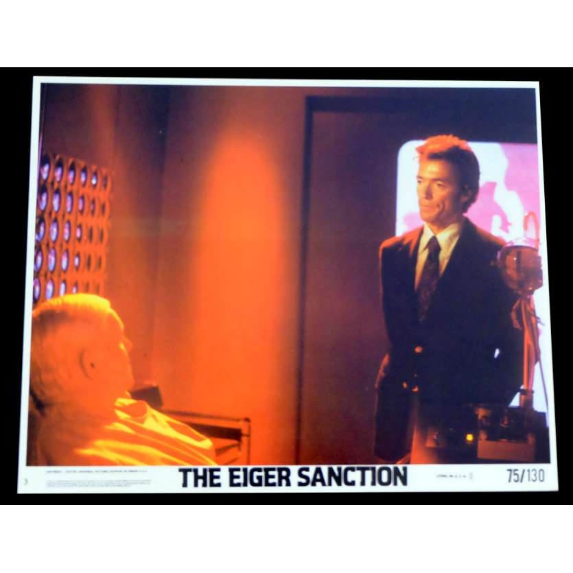 THE EIGER SANCTION US Lobby Card 8x10 - 1975 - Clint Eastwood, George Kennedy