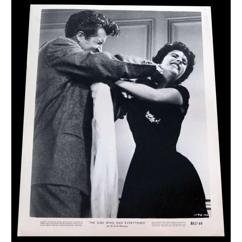 LA FILLE QUI AVAIT TOUT Photo de presse 20x25 - 1953/R1962 - Elizabeth Taylor, Richard Thorpe