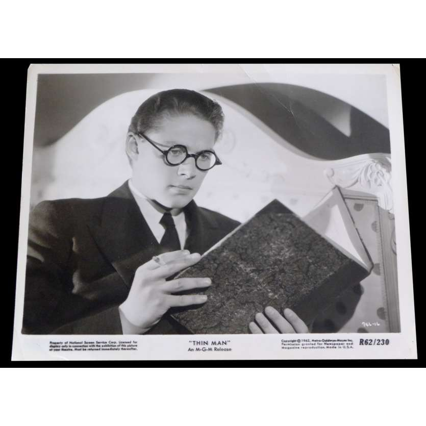 THE THIN MAN US Press Still 8x10 - 1934/R1962 - W.S. Van Dyke, William Powell