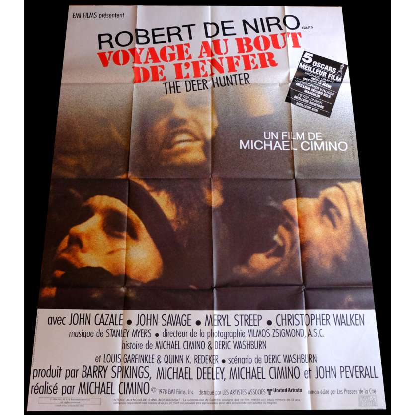 DEER HUNTER French Movie Poster 47x63 R80's de Niro, Walken, Deer Hunter Poster