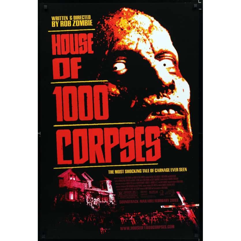 LA MAISON DES 1000 MORTS Affiche de film 69x104 - 2003 - Sid Haig, Rob Zombie