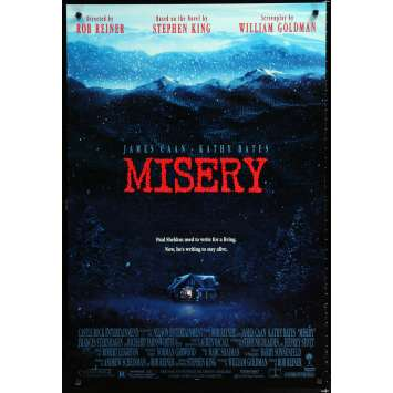 MISERY Affiche de film 69x104 - 1990 - James Caan, Rob Reiner
