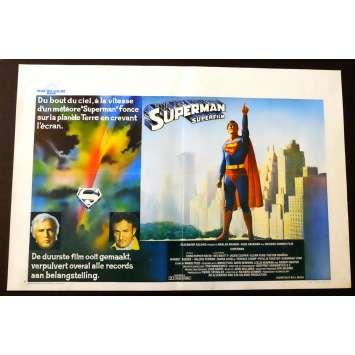 SUPERMAN Affiche de film 35x55 - 1978 - Christopher Reeve, Richard Donner