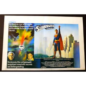SUPERMAN Belgian Movie poster 14x22 - 1978 - Richard Donner, Christopher Reeve