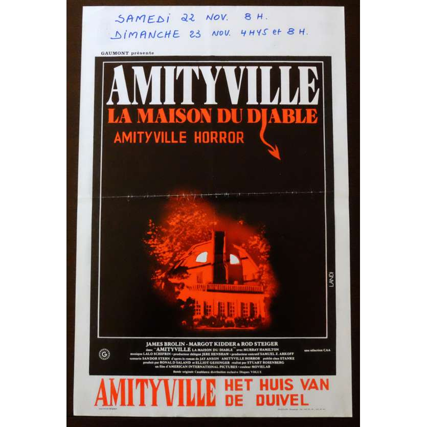 THE AMITYVILLE HORROR Belgian Movie poster 14x22 - 1979 - Stuart Rosenberg, James Brolin