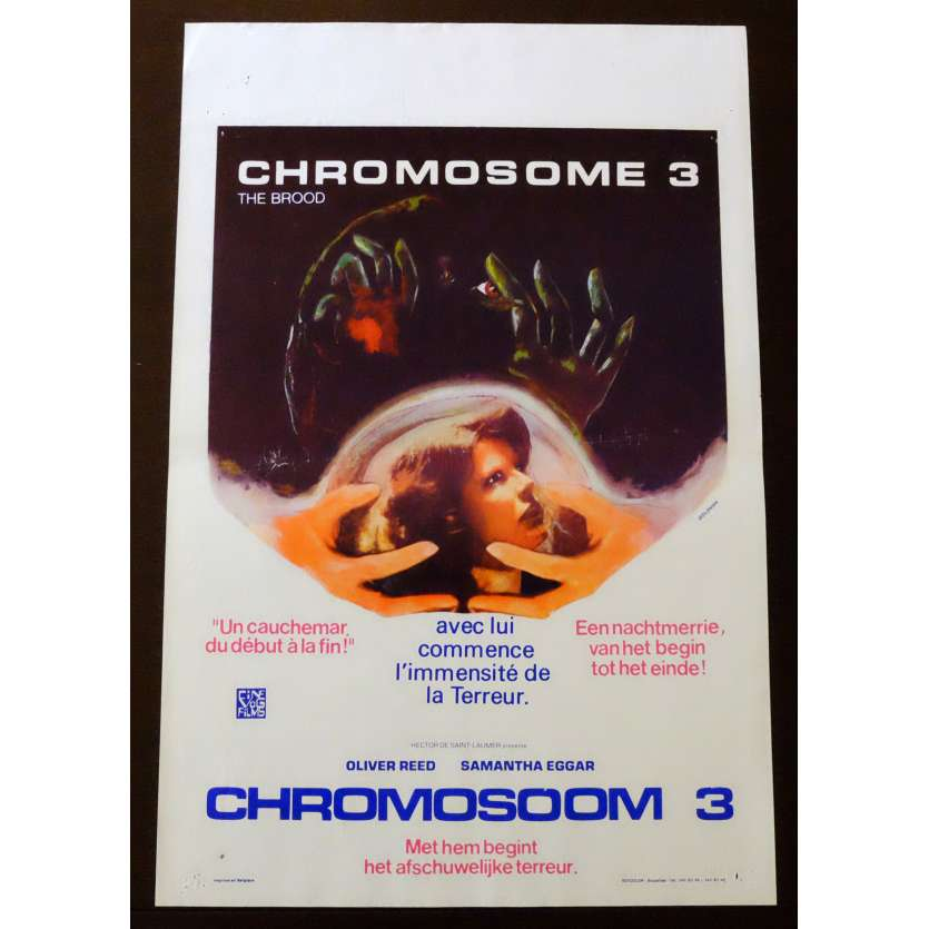CHROMOSOME 3 Affiche de film 35x55 - 1979 - Oliver Reed, David Cronenberg
