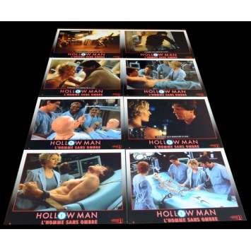 HOLLOW MAN French Lobby Cards x8 9x12 - 2000 - Paul Verhoeven, Kevin Bacon