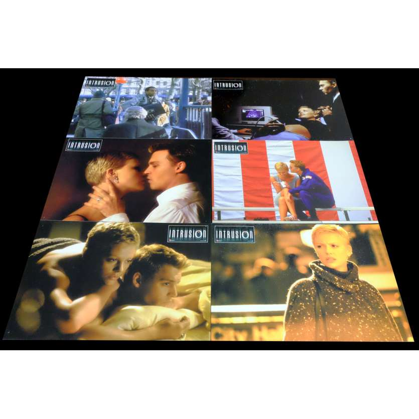 INTRUSION French Lobby Cards x6 9x12 - 1999 - Rand Ravich, Johnny Depp