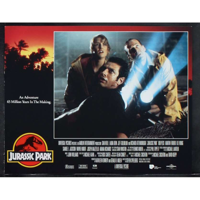 JURASSIC PARK Photo de film N2 28x36 - 1993 - Sam Neil, Steven Spielberg