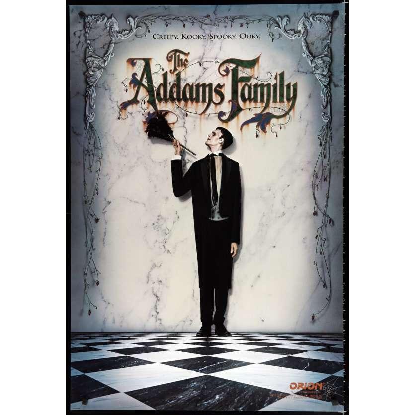 LA FAMILLE ADDAMS Affiche de film 69x104 - 1991 - Anjelica Huston, Barry Sonnenfeld