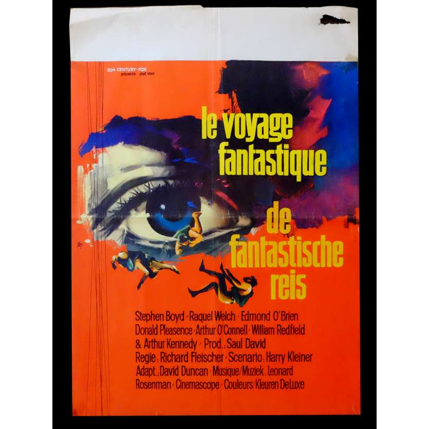 FANTASTIC VOYAGE Belgian Movie poster 17x25 - 1966 - Richard Fleischer, Raquel Welch