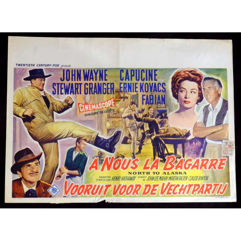 NORTH TO ALASKA Belgian Movie Poster 14x21 - 1960 - Henry Hathaway, John Wayne