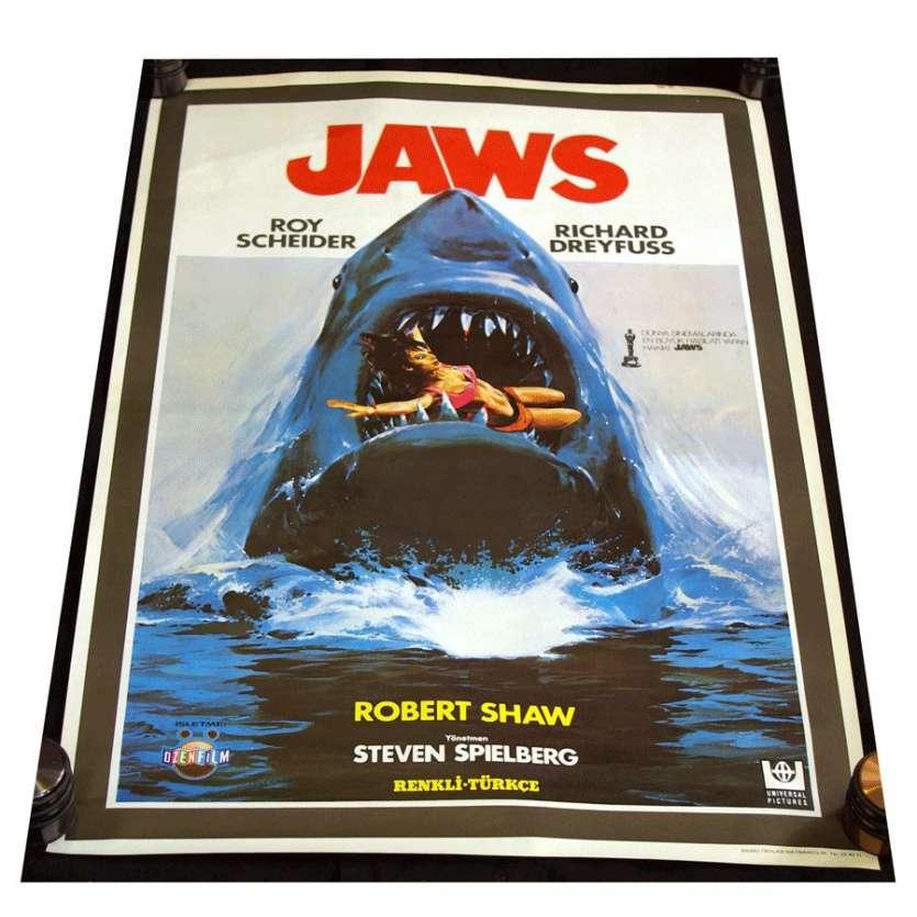 Mauvais-genres.com LES DENTS DE LA MER Steven Spielberg Rare Affiche TU Affiches cinéma