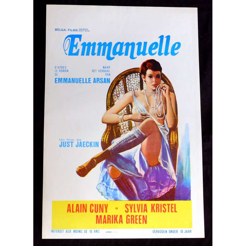 EMMANUELLE Belgian Movie Poster 14x21 - 1974 - Just Jaekin, Sylvia Kristel