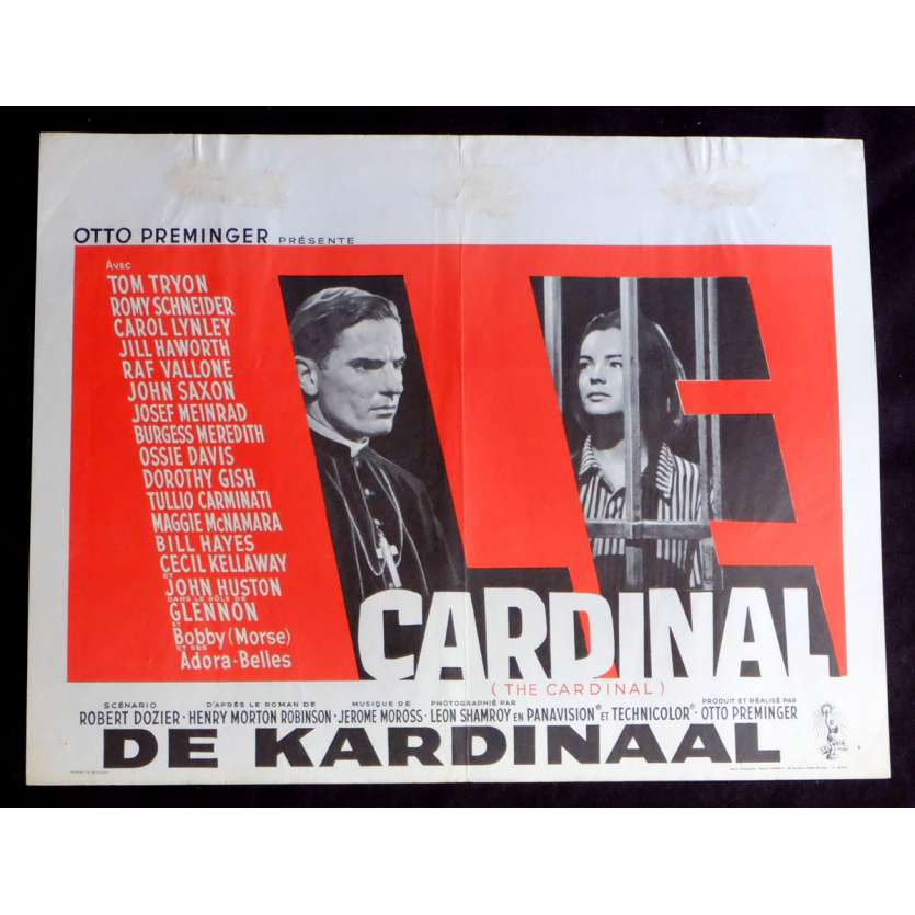 THE CARDINAL Belgian Movie Poster 14x21 - 1963 - Otto Preminger, Romy Schneider