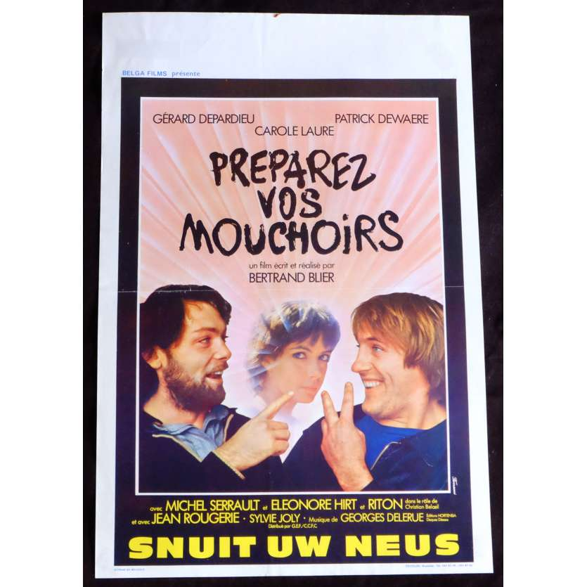 GET YOUR HANDKERCHIEFS Belgian Movie Poster 14x21 - 1978 - Bertrand Blier, Patrick Dewaere