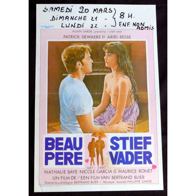 BEAU PERE Belgian Movie Poster 14x21 - 1981 - Bertrand Blier, Patrick Dewaere