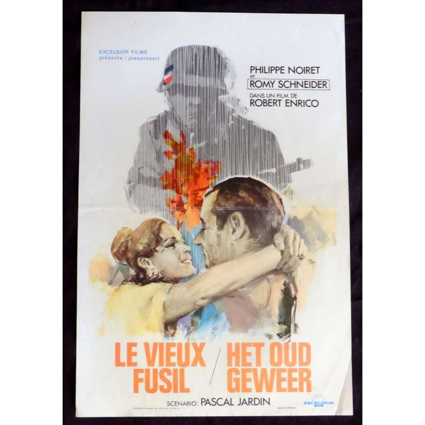 THE OLD GUN Belgian Movie Poster 14x21 - 1975 - Robert Enrico, Romy Schneider